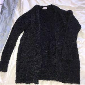 Fuzzy Black Sweater ✨ Loft